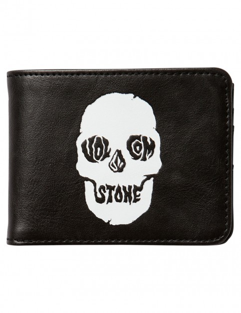 Black On Black Volcom Picto Faux Leather Wallet