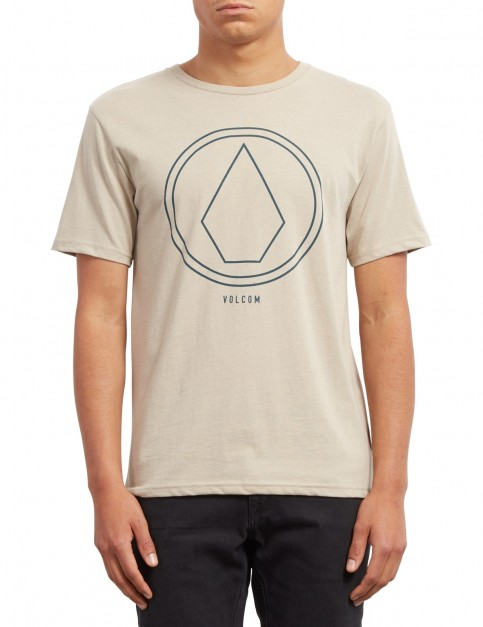 Volcom Pinline Stone Heather Short Sleeve T-Shirt in Oatmeal