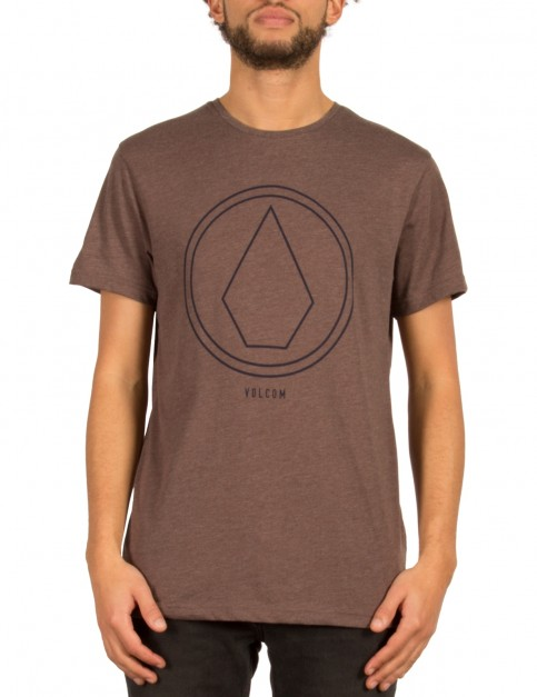 Volcom Pinline Stone Short Sleeve T-Shirt in Plum
