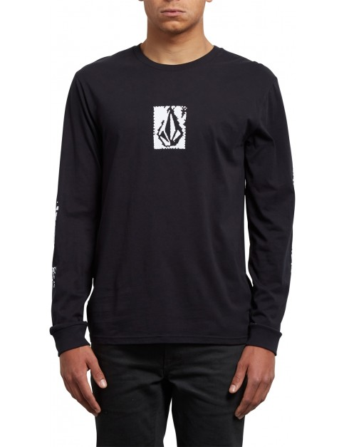 Volcom Pixel Stone Long Sleeve T-Shirt in Black