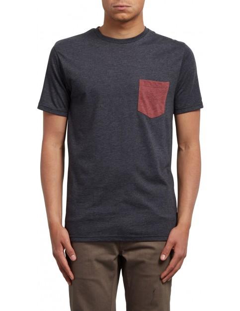 Volcom Pocket Short Sleeve T-Shirt in Heather Black