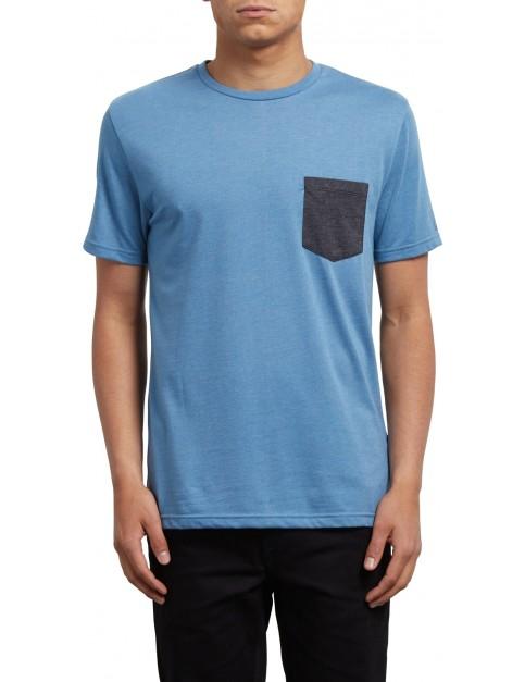 Volcom Pocket Short Sleeve T-Shirt in Wrecked Indigo