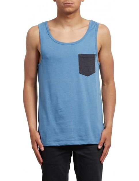 Volcom Pocket Sleeveless T-Shirt in Wrecked Indigo