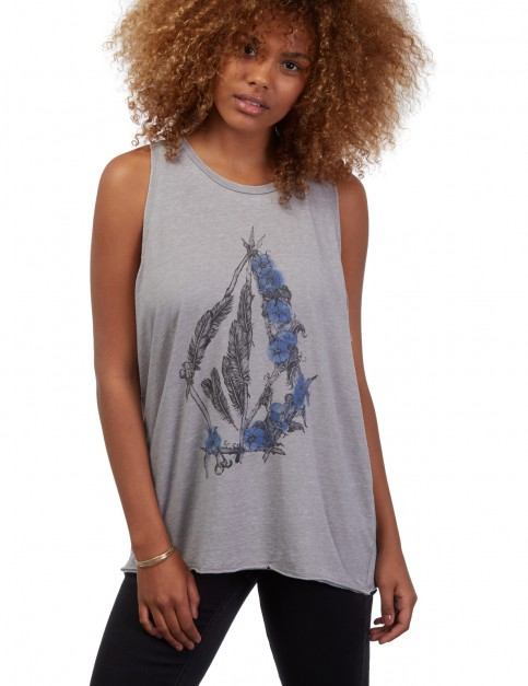Volcom Pony Gold Sleeveless T-Shirt in Gunmetal