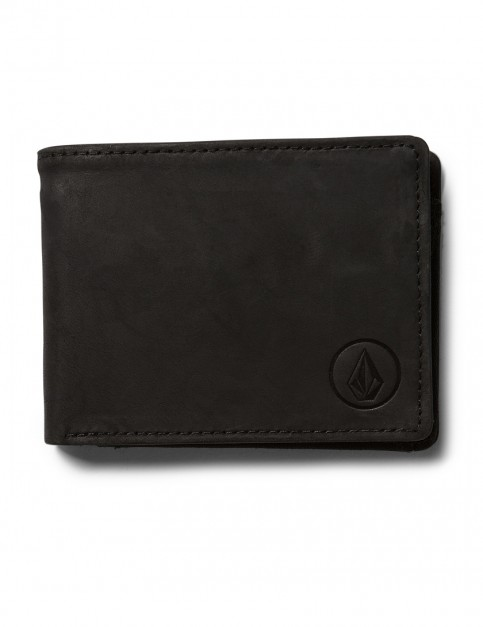 Black Volcom Prime Leather Wallet