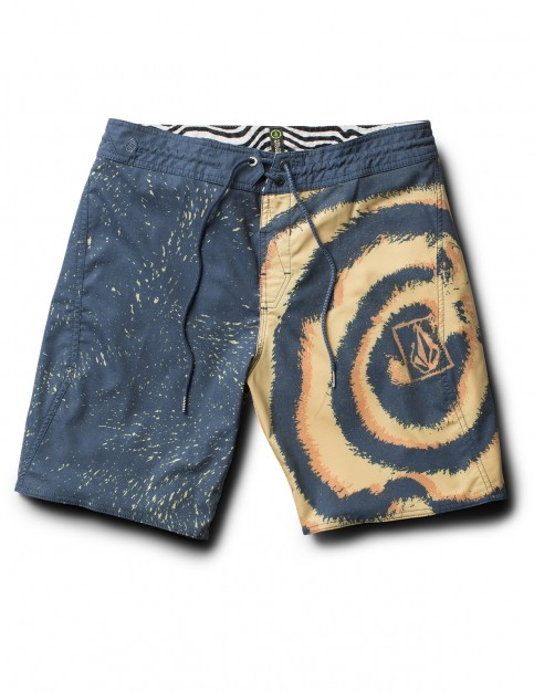 Volcom Psyched Stoney Mid Length Boardshorts in Sunburst