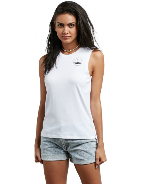 Volcom Pure Stoke Tank Sleeveless T-Shirt in White