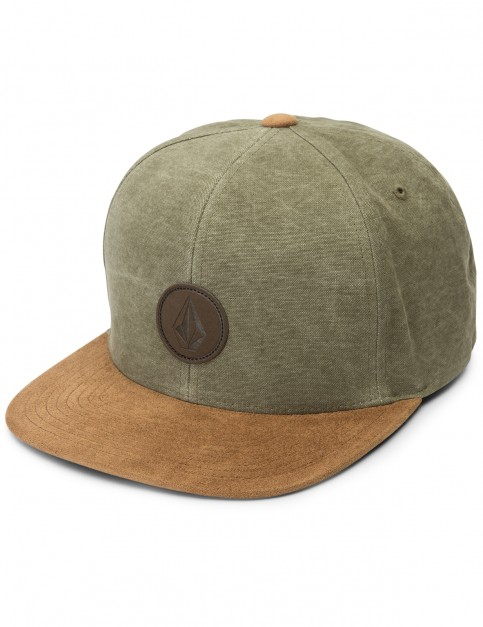 Volcom Quarter Fabric Cap in Army Green Combo