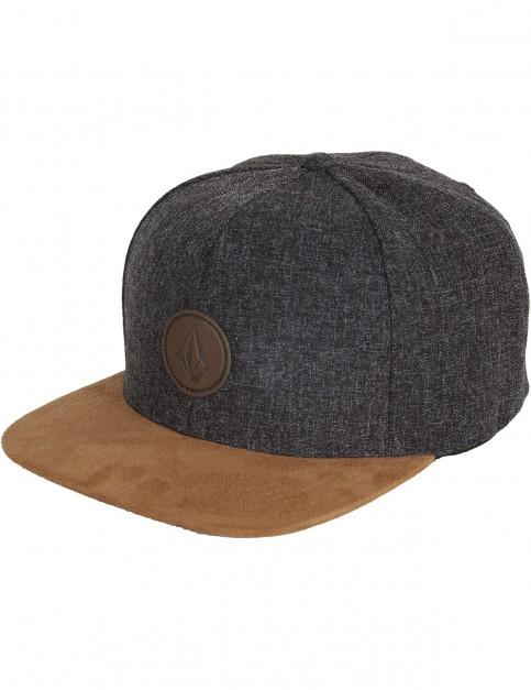 Volcom Quarter Fabric Cap in Brown Combo
