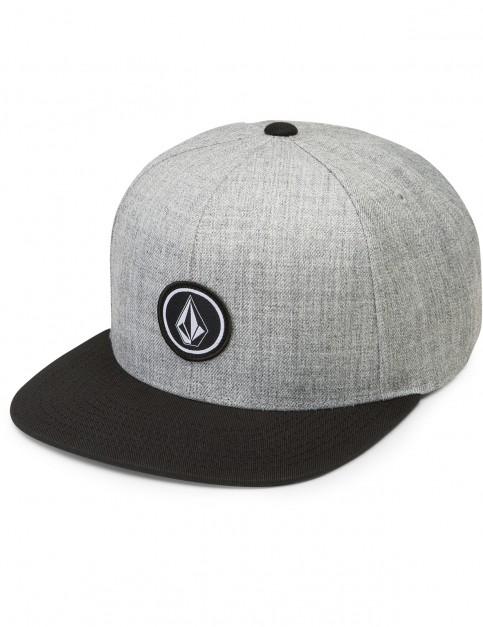 Volcom Quarter Twill Cap in Black Grey