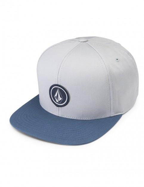 Grey Blue Volcom Quarter Twill Cap