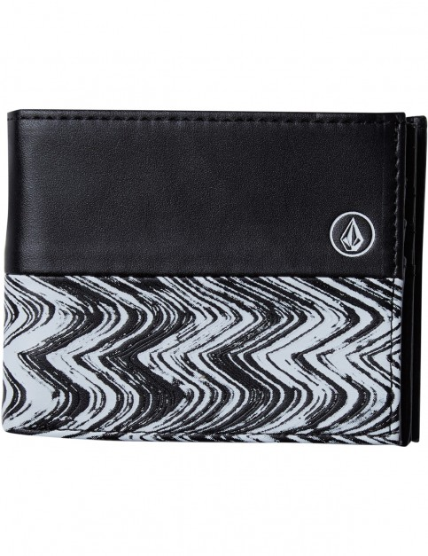 Volcom Radiator 3F Faux Leather Wallet in Black