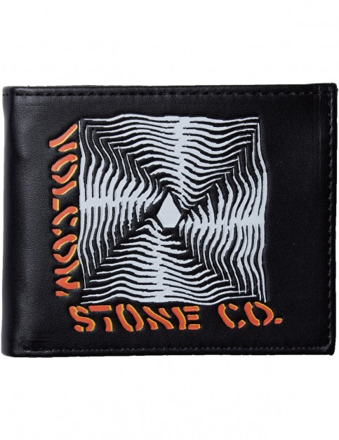 Volcom Radiator 3F Faux Leather Wallet in New Black