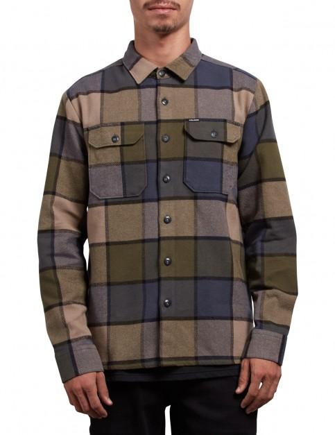 Volcom Randower Long Sleeve Shirt in Military