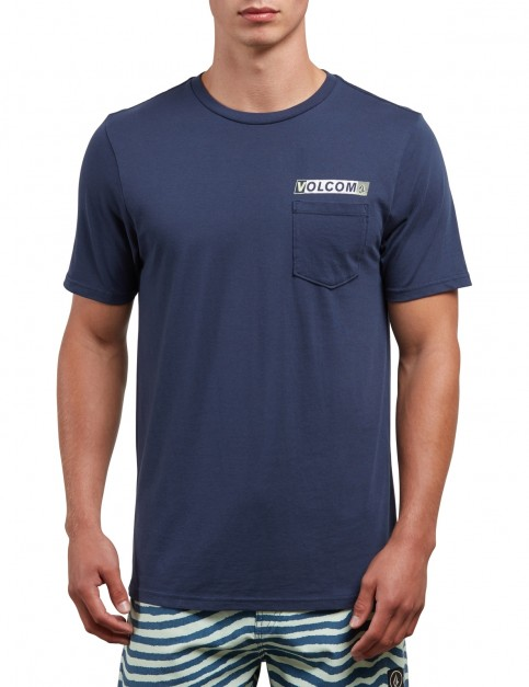 Volcom Rebel Radio Short Sleeve T-Shirt in Navy