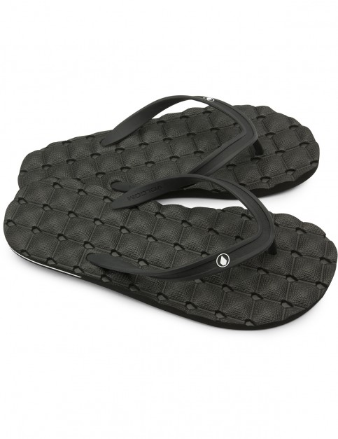 Volcom Recliner Flip Flops in Black