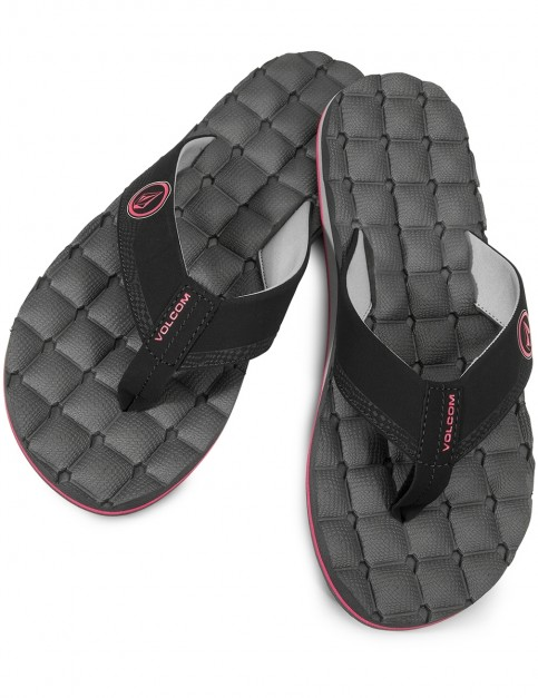 Volcom Recliner Flip Flops in Graphite