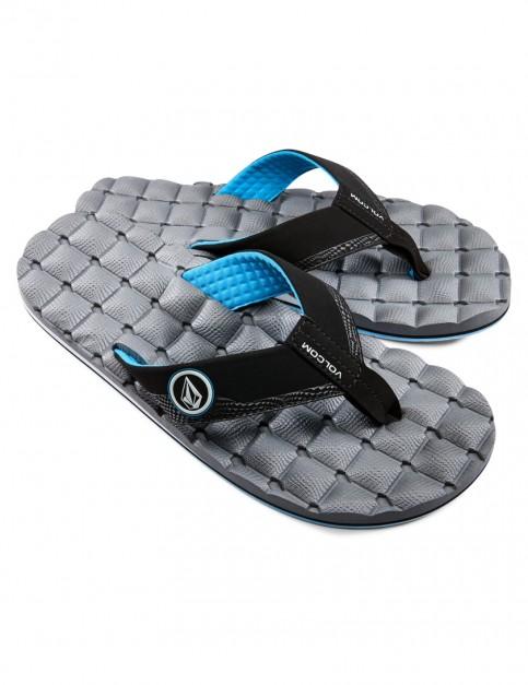Grey Blue Volcom Recliner Sport Sandals
