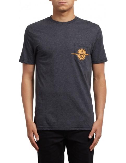 Volcom Rip Pocket Short Sleeve T-Shirt in Heather Black
