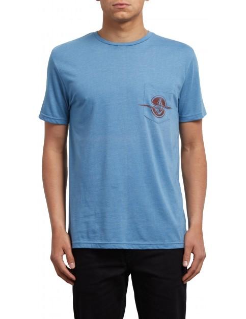 Volcom Rip Pocket Short Sleeve T-Shirt in Wrecked Indigo