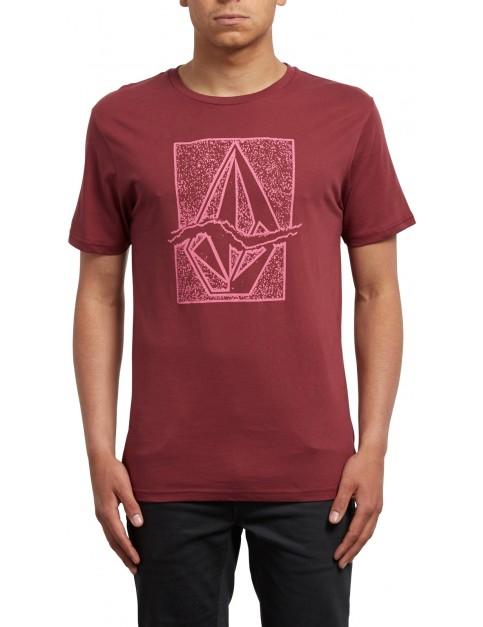 Volcom Rip Stone Short Sleeve T-Shirt in Crimson