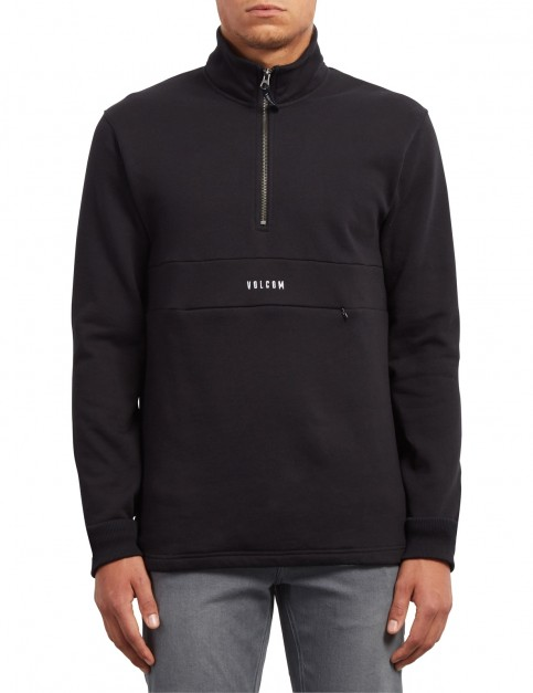 Volcom Rixon Mock Sweatshirt in Black