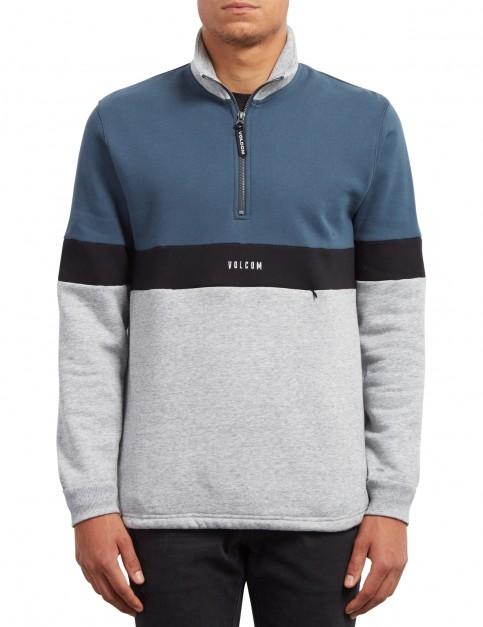 Volcom Rixon Mock Sweatshirt in Stone