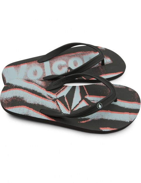 Volcom Rocker 2 Flip Flops in Electric Coral
