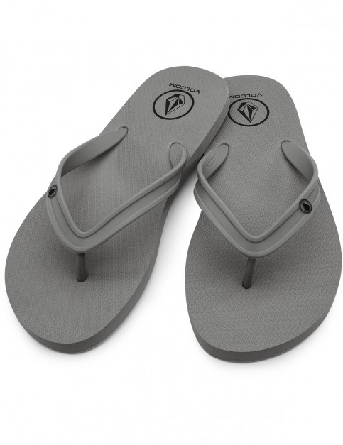 Volcom Rocker 2 Flip Flops in Grey Combo