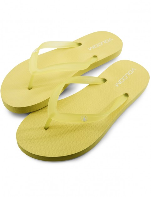 Volcom Rocking 2 Solid Flip Flops in Citron