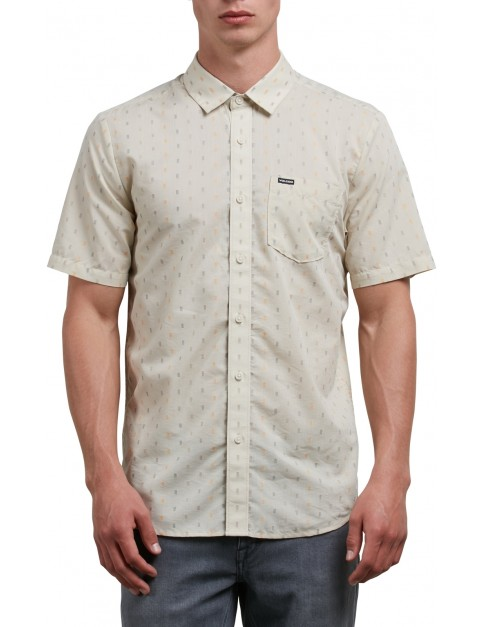 Volcom Rollins Short Sleeve Shirt in Clay