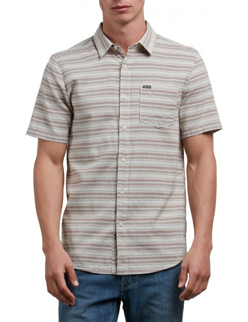 Volcom Sable Short Sleeve Shirt in Clay