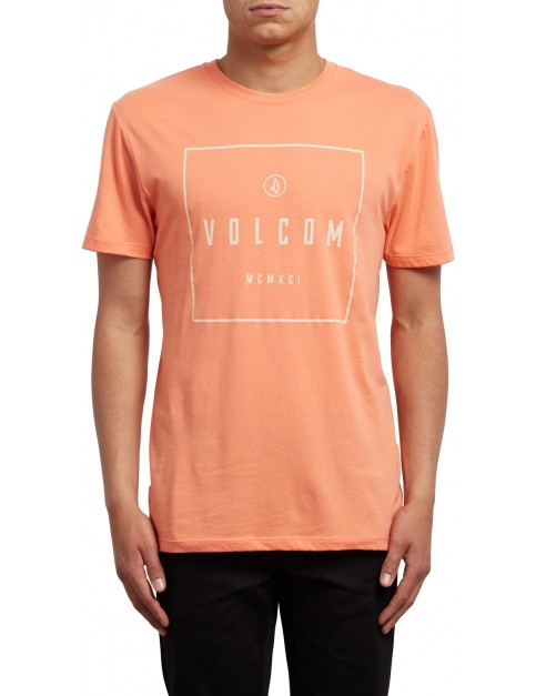 Volcom Scribe Short Sleeve T-Shirt in Salmon