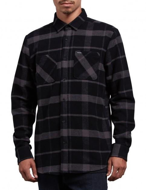 Volcom Shader Long Sleeve Shirt in Black