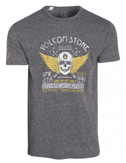Heather Black Volcom Showtime Tri Short Sleeve T-Shirt