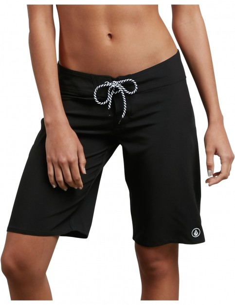 Volcom Simply Solid 11 inch Mid Length Boardshorts in Black