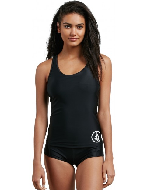 Volcom Simply Solid Tankini Tankini in Black