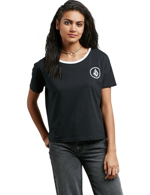 Volcom Simply Stoned Short Sleeve T-Shirt in Black