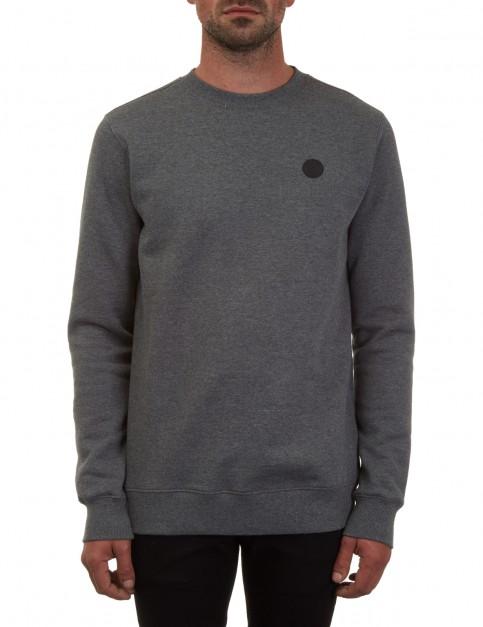 Volcom Single Stone Crew Sweatshirt in Dark Grey
