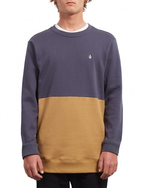 Volcom Single Stone Div Crew Sweatshirt in Midnight Blue