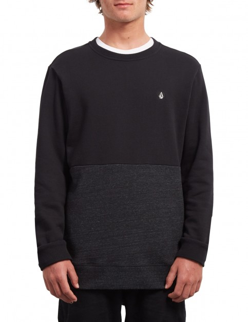 Volcom Single Stone DIV Crew Sweatshirt in Sulfur Black