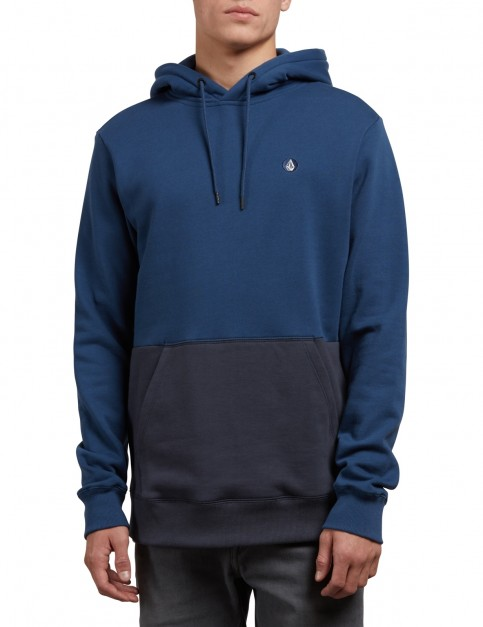 Volcom Single Stone Div Pullover Hoody in Matured Blue