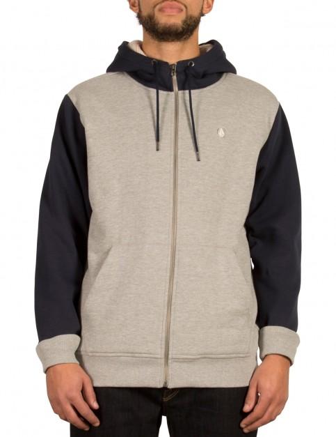 Volcom Single Stone Lined Zipped Hoody in Grey