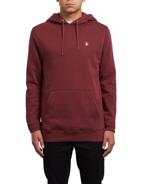 Volcom Single Stone Pullover Hoody in Crimson