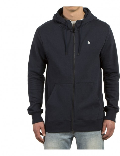Volcom Single Stone Zipped Hoody in Navy