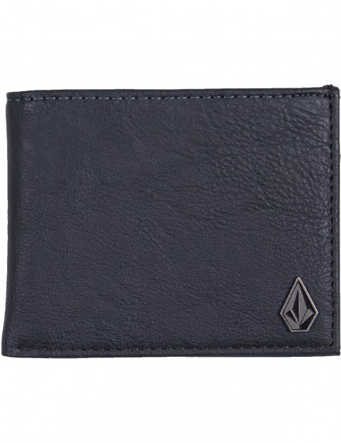 Volcom Slim Stone Faux Leather Wallet in Putty