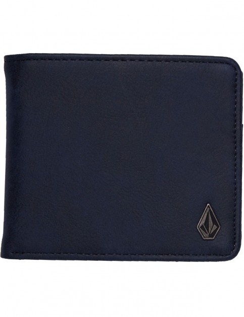 Volcom Slim Stone L Faux Leather Wallet in Midnight Blue