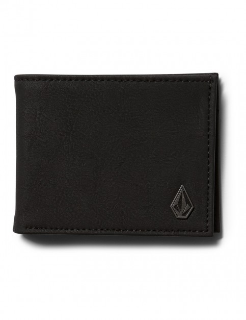 Black Volcom Slimstone Pu Faux Leather Wallet