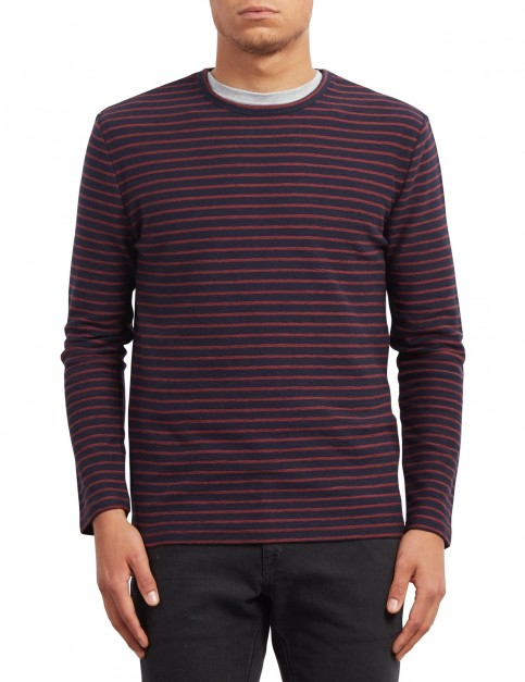Volcom Slubstance Sweater Jumper in Navy
