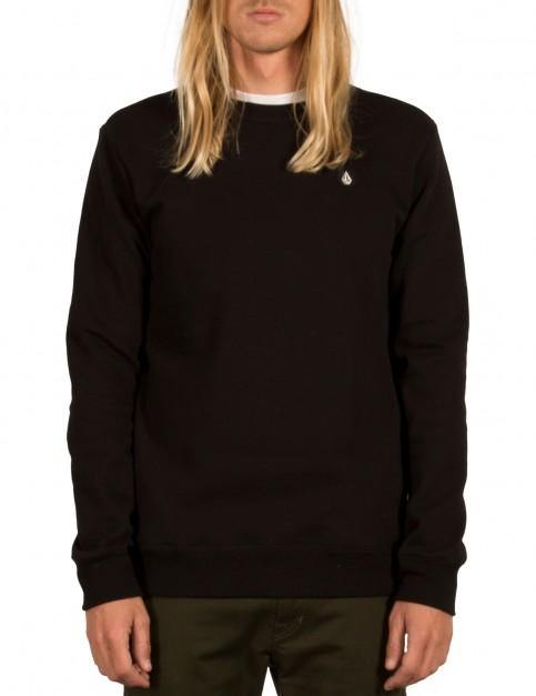 Volcom Sngl Stone Crew Sweatshirt in Black